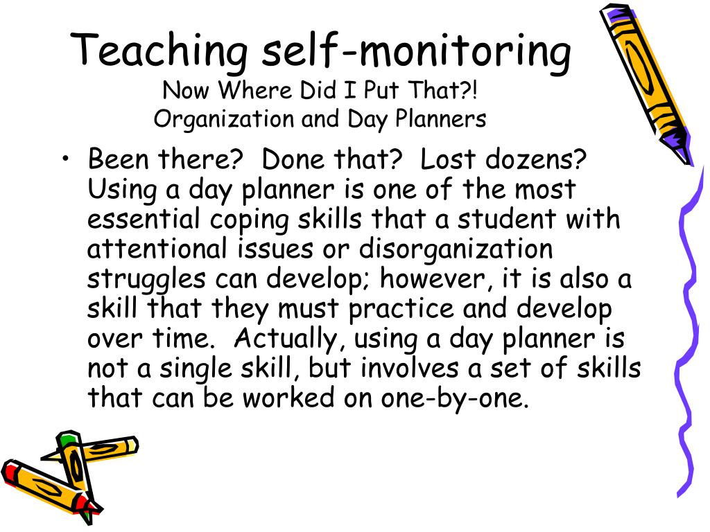 Teaching self-monitoring