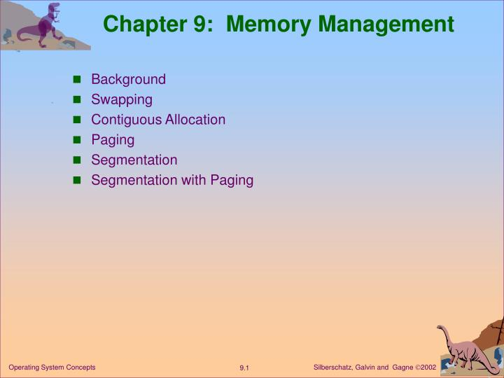 Chapter 9 memory management