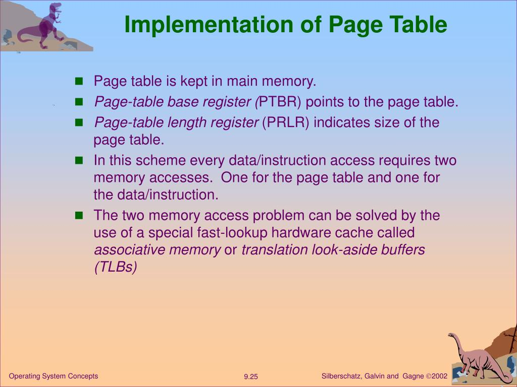 Implementation of Page Table