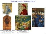 middle ages renaissance