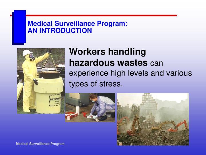Medical surveillance program an introduction