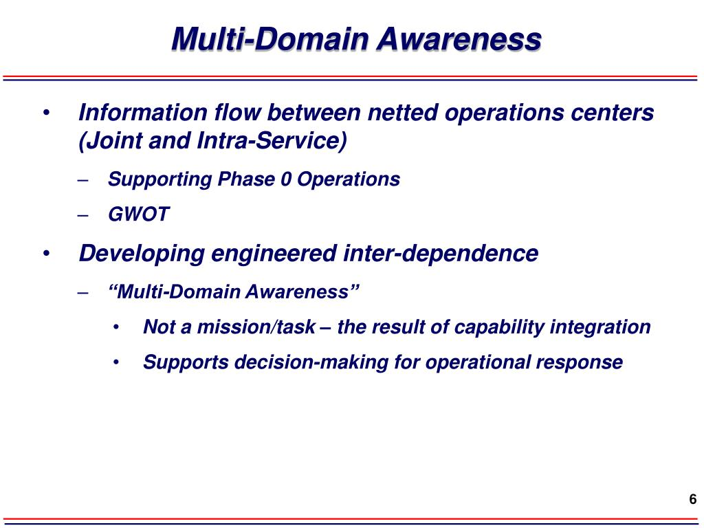 Multi-Domain Awareness