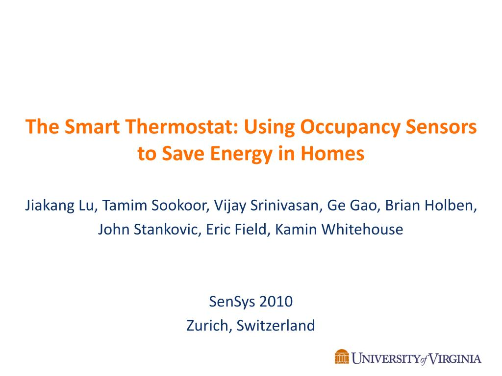 the smart thermostat using occupancy sensors to save energy in homes l.
