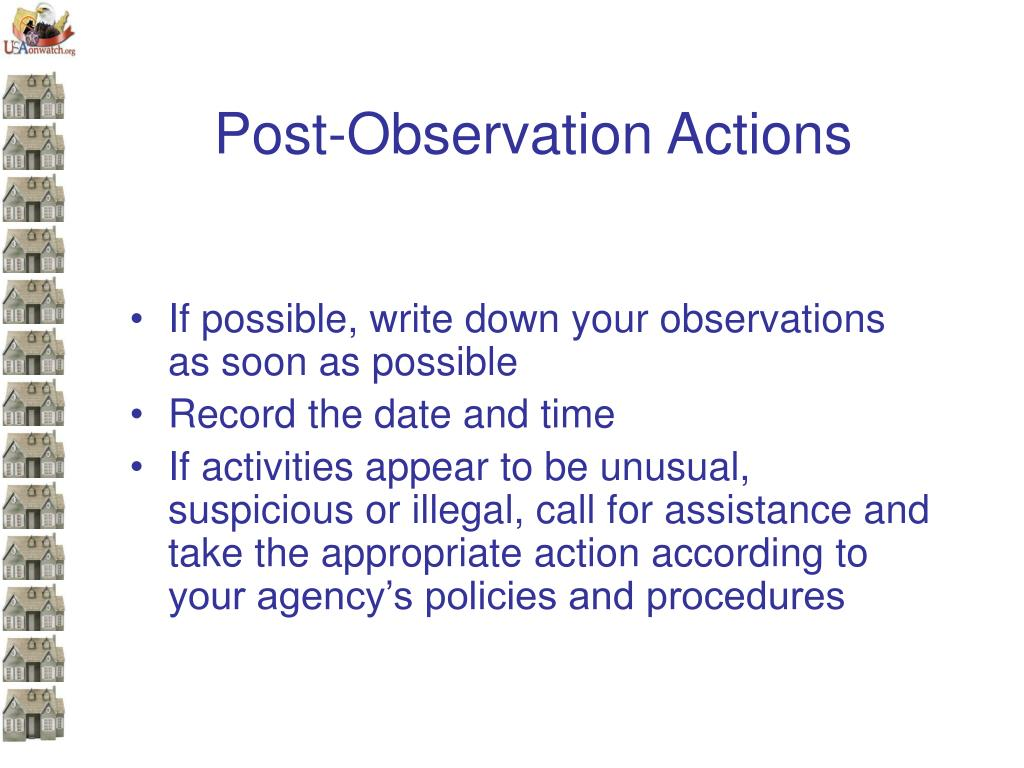 Post-Observation Actions