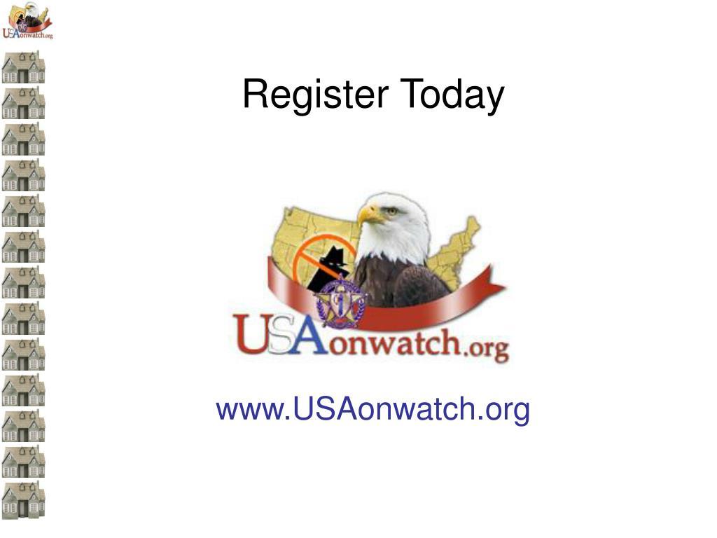 Register Today