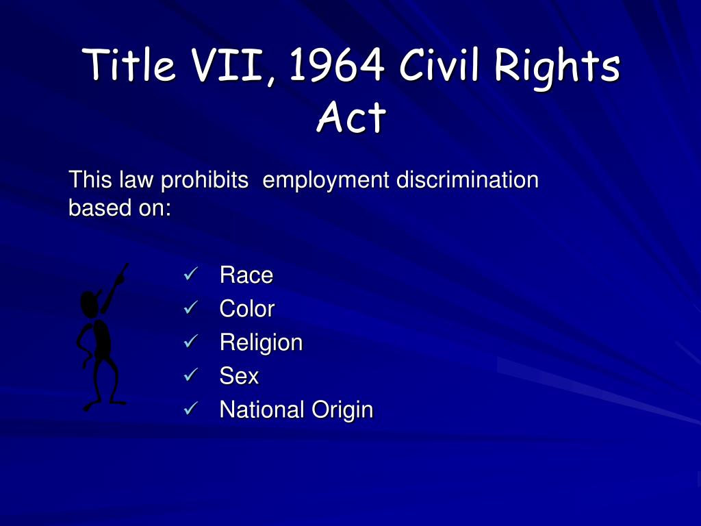 Title VII, 1964 Civil Rights Act
