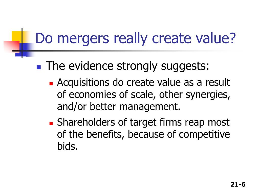 Do mergers really create value?