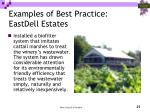examples of best practice eastdell estates