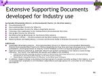 extensive supporting documents developed for industry use