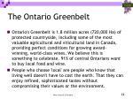 the ontario greenbelt