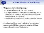 criminalization of trafficking21