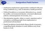 emigration push factors