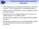 features of modern international migration