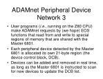 adamnet peripheral device network 3