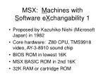 msx m achines with s oftware e x changability 1