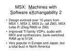 msx m achines with s oftware e x changability 2