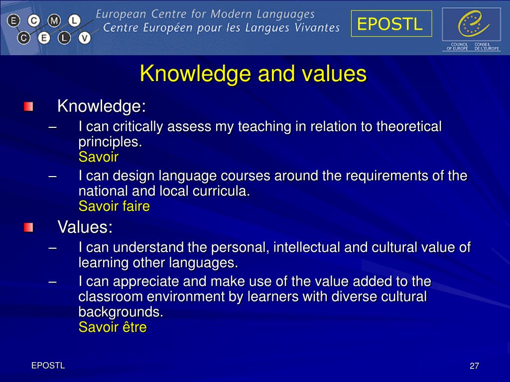 Knowledge and values