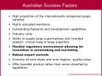 australian success factors