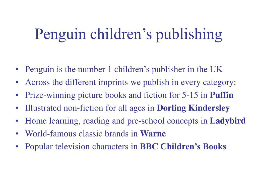 Penguin children's publishing