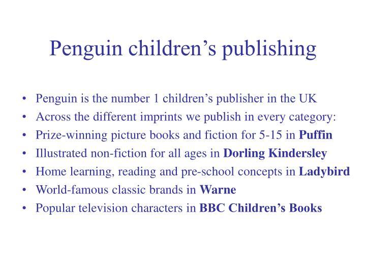 Penguin children s publishing