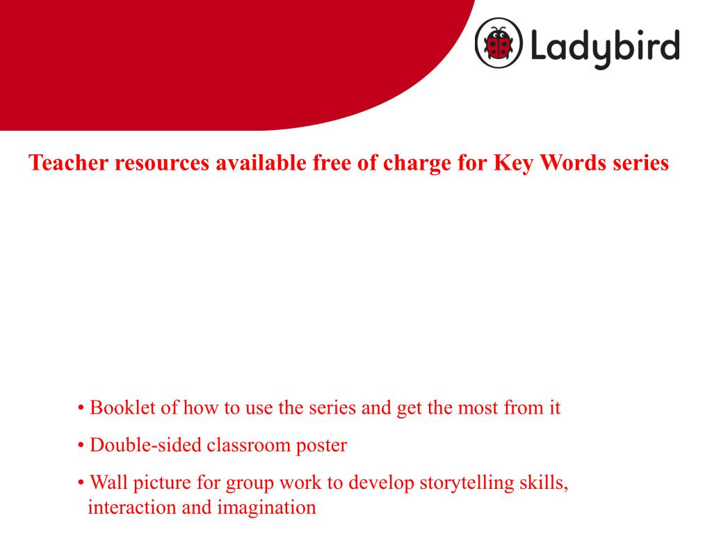 Teacher resources available free of charge for Key Words series