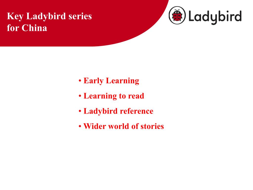 Key Ladybird series for China