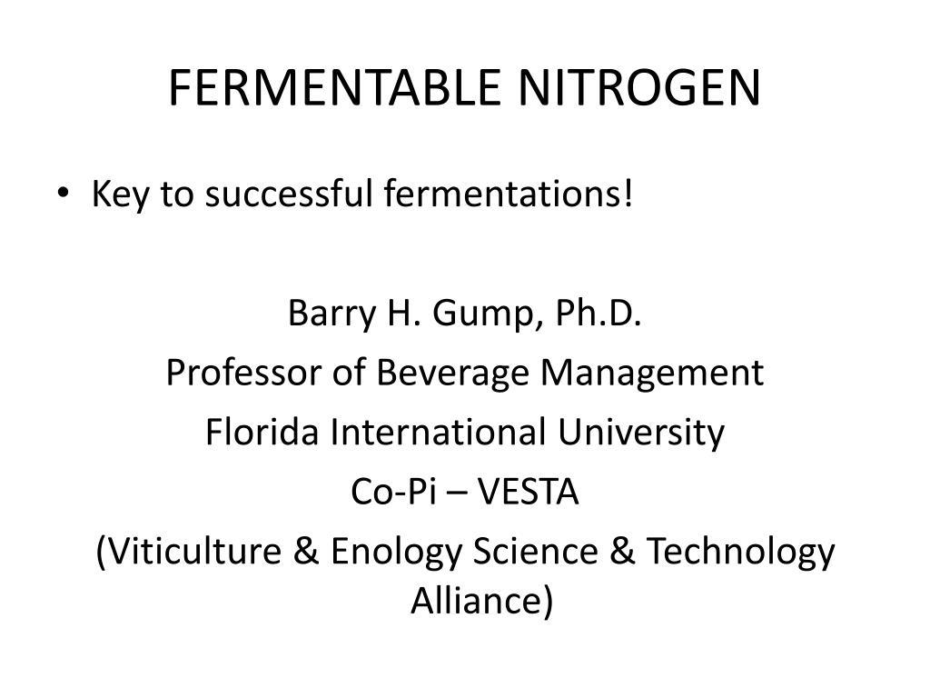 fermentable nitrogen l.