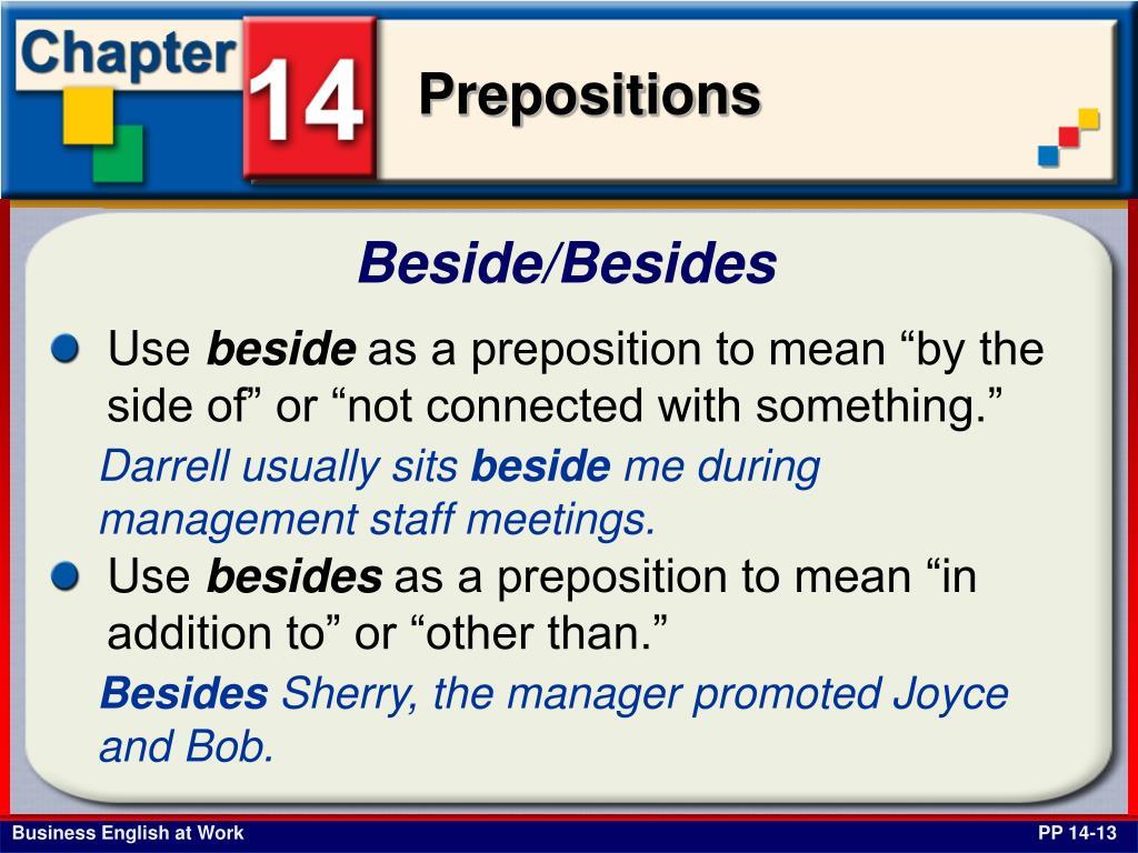 Beside/Besides