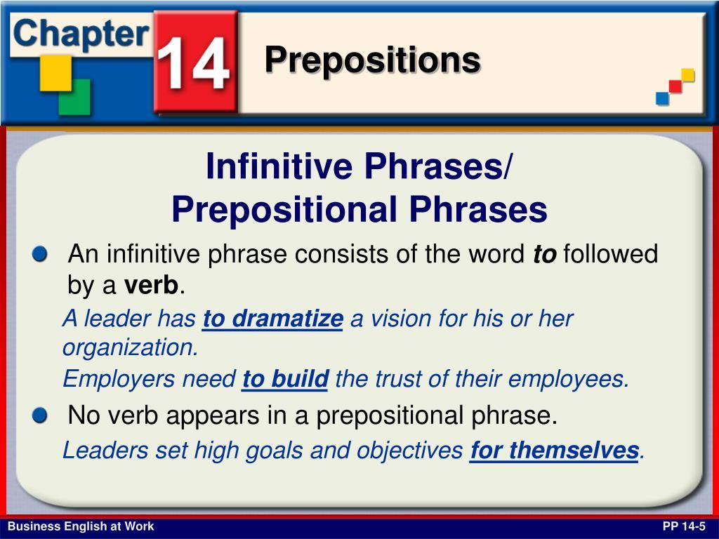 Infinitive Phrases/