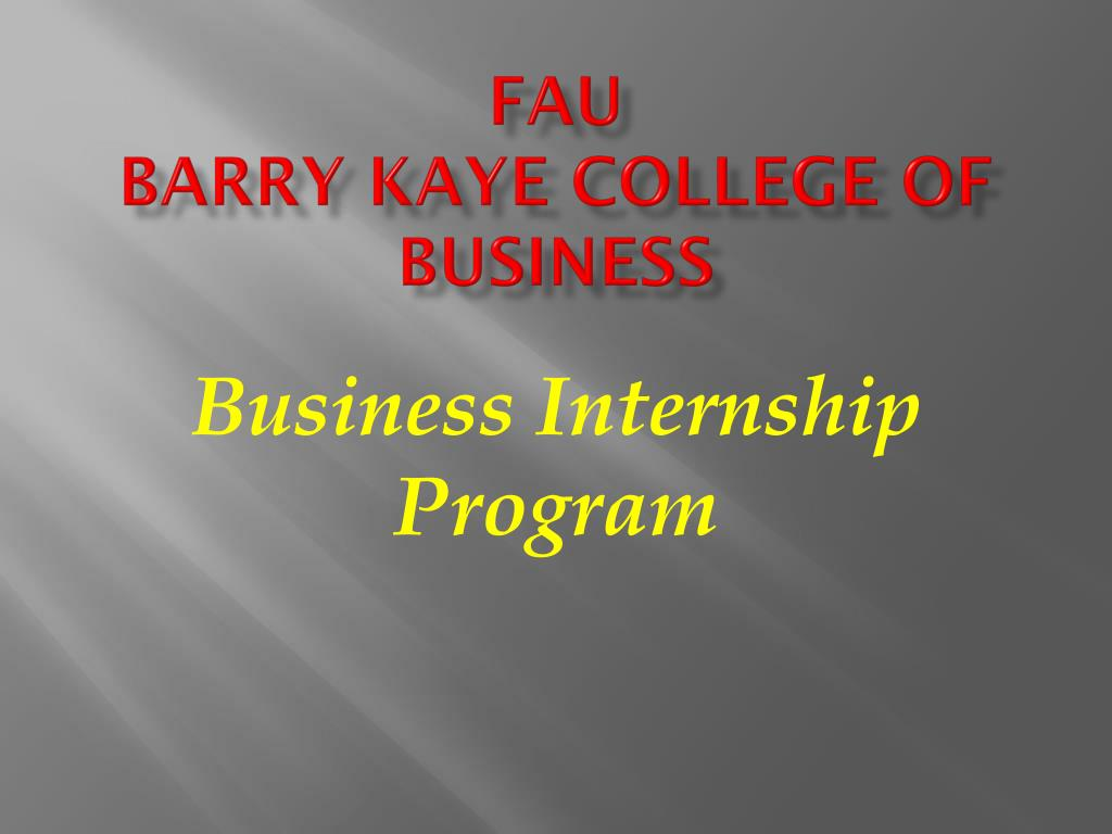 fau barry kaye college of business l.