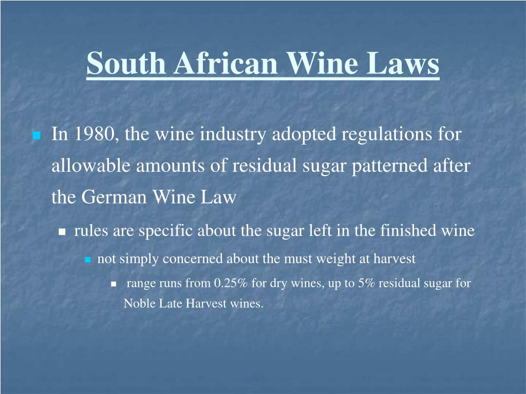 South African Wine Laws