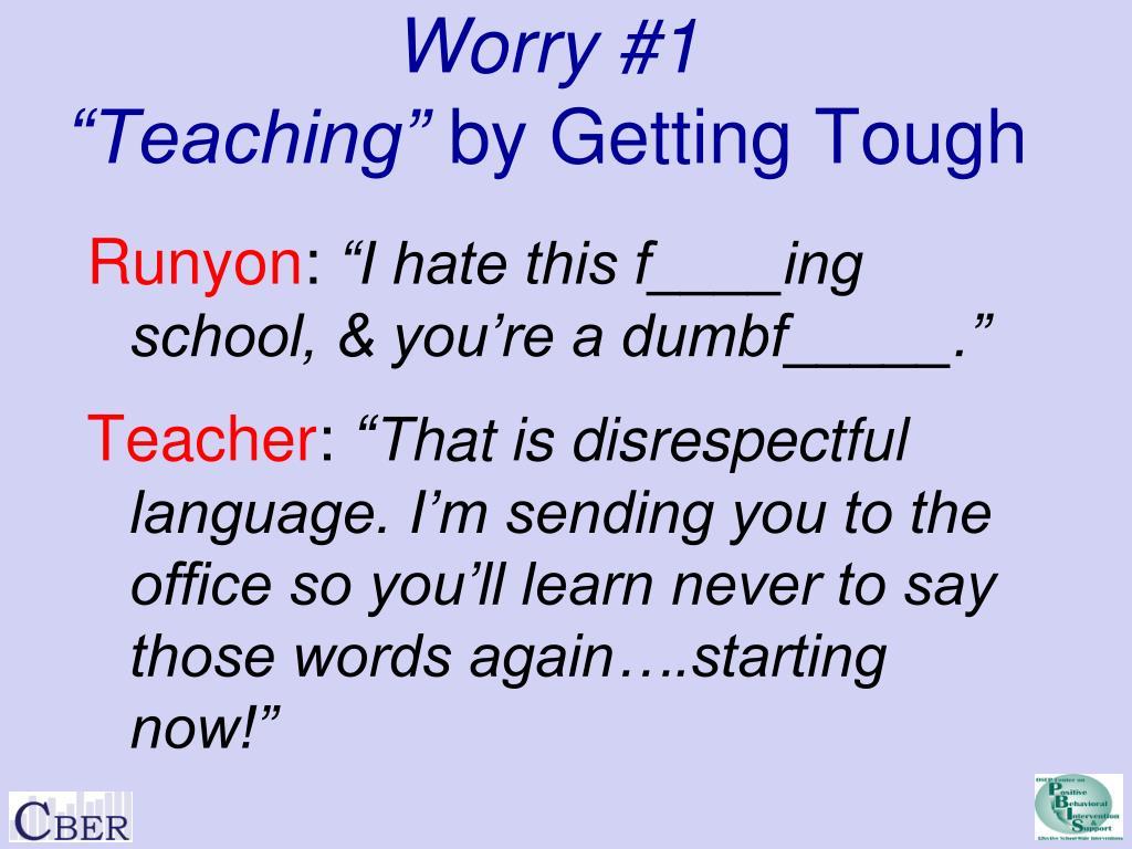 Worry #1