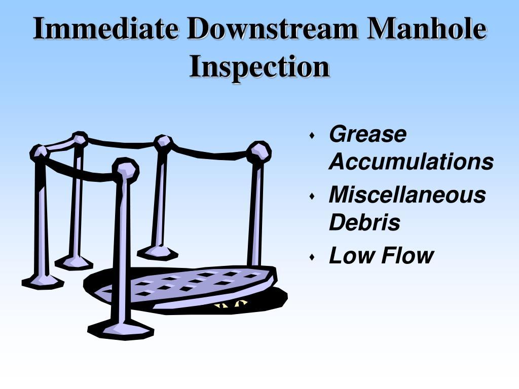 Immediate Downstream Manhole Inspection