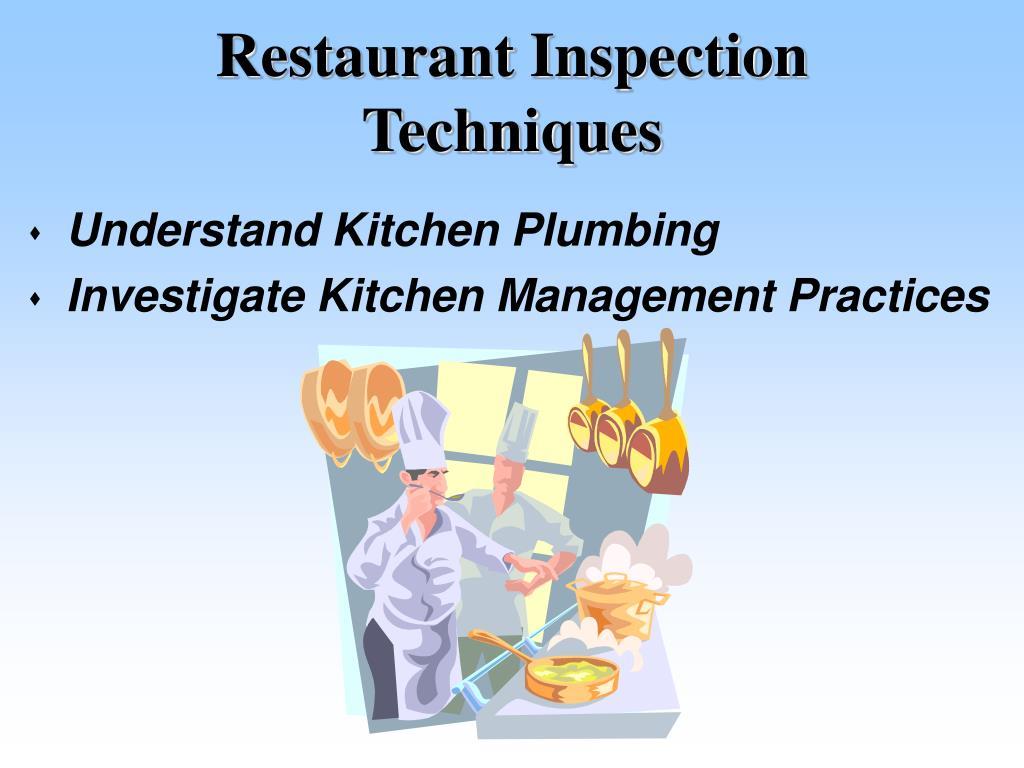 Restaurant Inspection Techniques