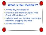 what is the hoedown