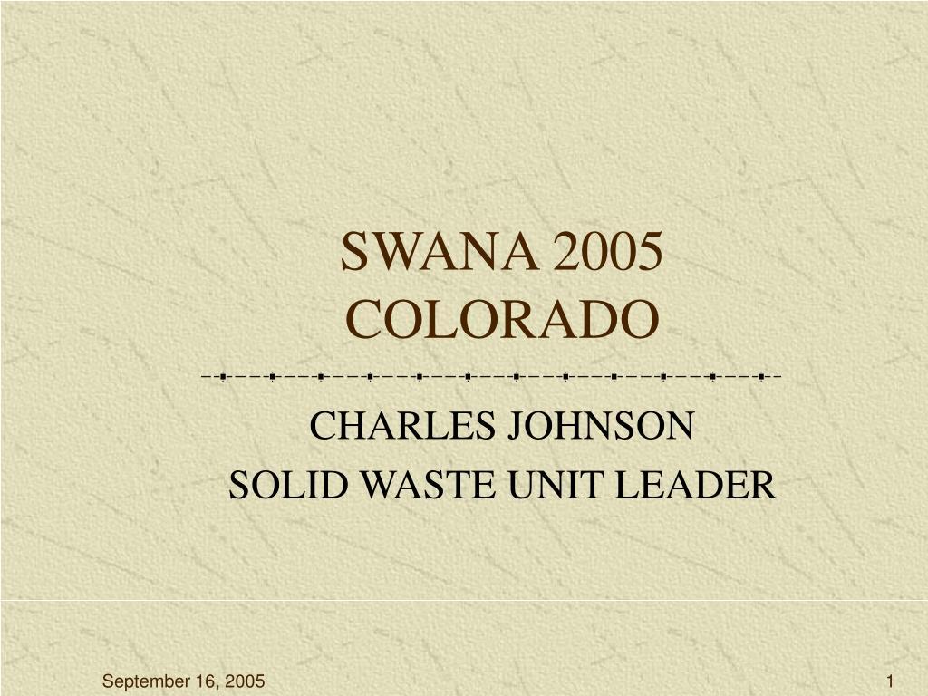 swana 2005 colorado