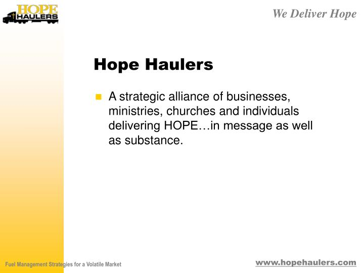 Hope Haulers