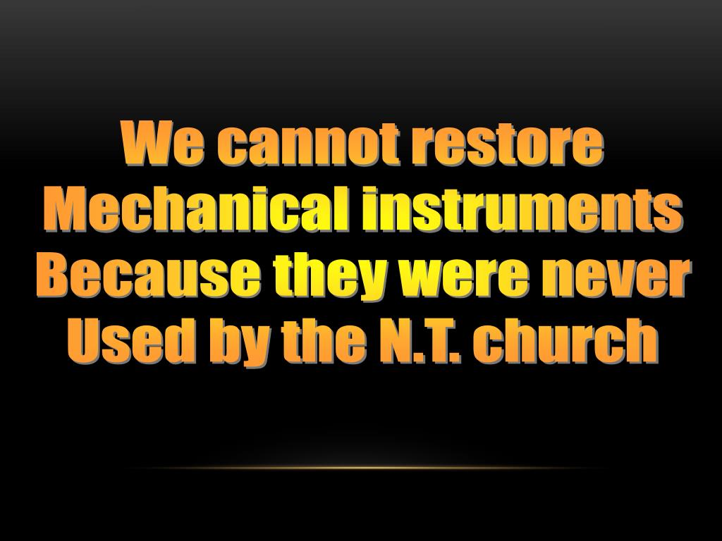 We cannot restore