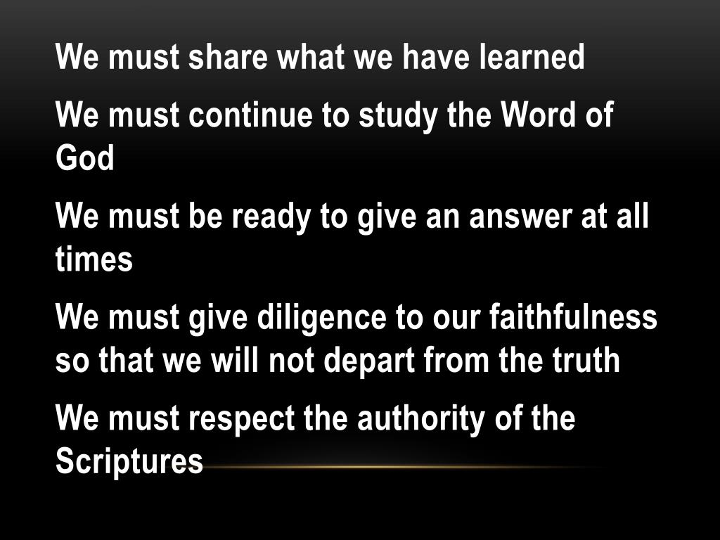 We must share what we have learned
