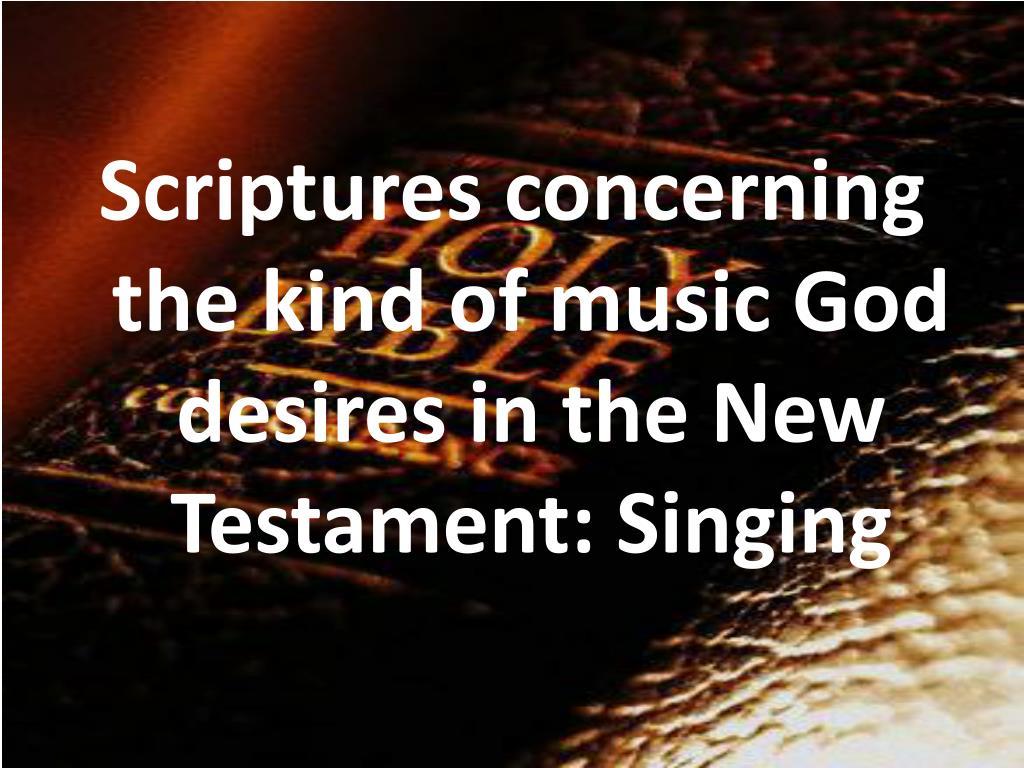 Scriptures concerning