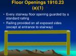 floor openings 1910 23 a 1