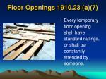 floor openings 1910 23 a 7