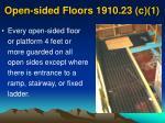 open sided floors 1910 23 c 1