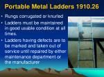 portable metal ladders 1910 2654