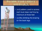 portable wood ladders 1910 25 d 2