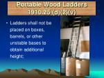 portable wood ladders 1910 25 d 2 v