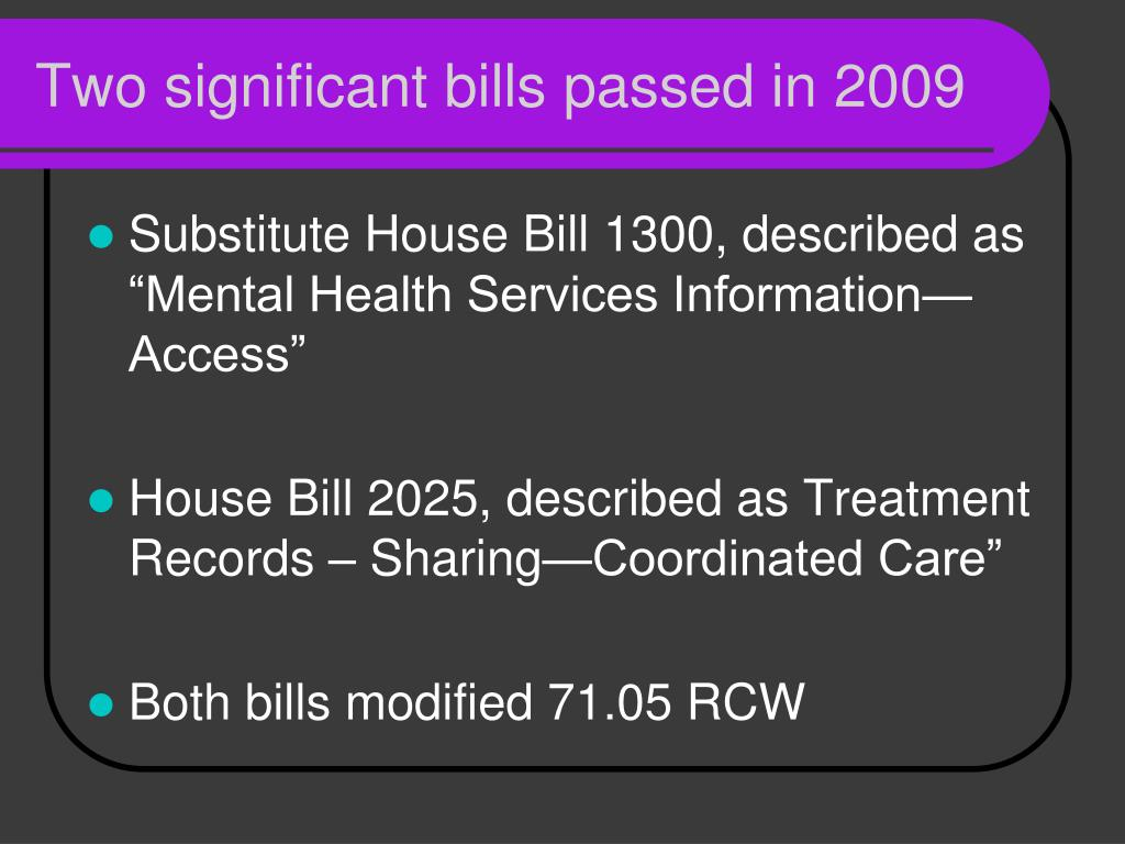 Two significant bills passed in 2009