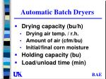 automatic batch dryers