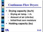 continuous flow dryers