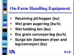 on farm handling equipment
